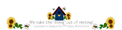 Bumble Bee Rentals -- Price County -- Apartments, Commercial Rentals, and Party Tables & Chairs